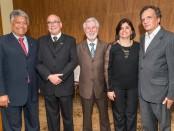 Jorge Teixeira Barbosa, Evaldir Barboza de Paula, Adevaldo Calegari, Luciana Ferreira e Flávio Bosisio - Adevaldo Calegari e outros membros da diretoria foram reeleitos por aclamação.