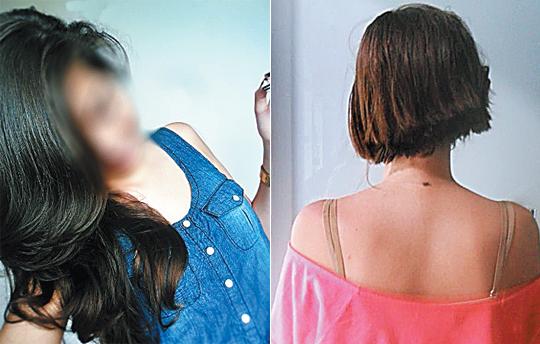 Adolescente teve o cabelo cortado em assalto em Salvador (Foto: Reprodução)