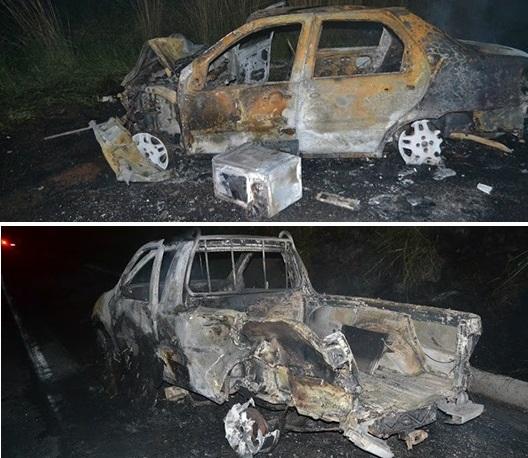 dois carros queimaram