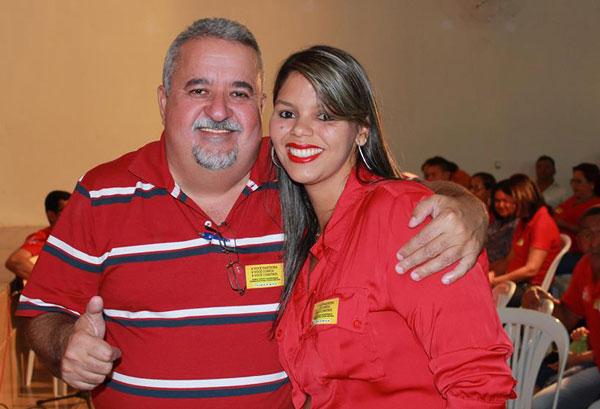Dr. André Andrade e a pré-candidata à vice-prefeita Bárbara de Maurinho