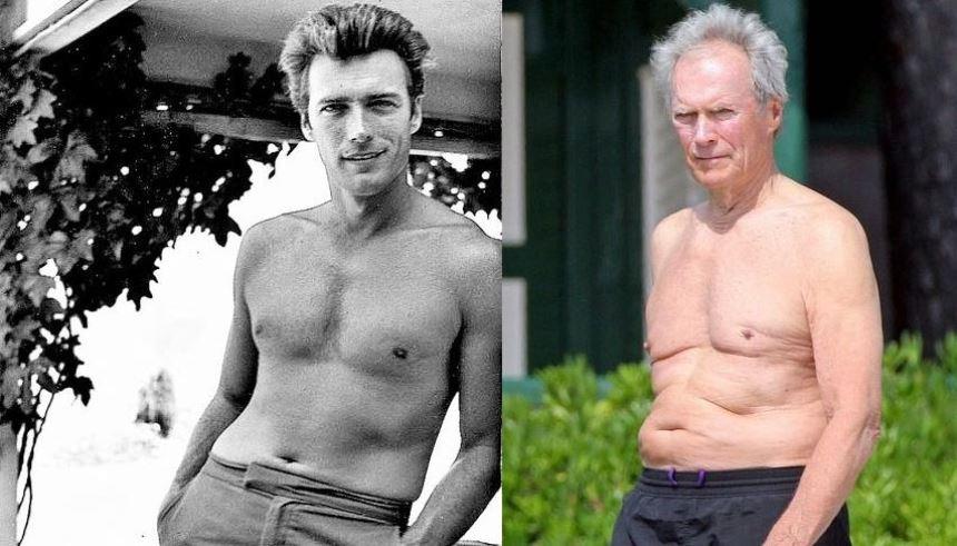 Clint Eastwood: o galã machão dos filmes de faroeste também sentiu bastante o peso dos anos FOTO: Reprodução