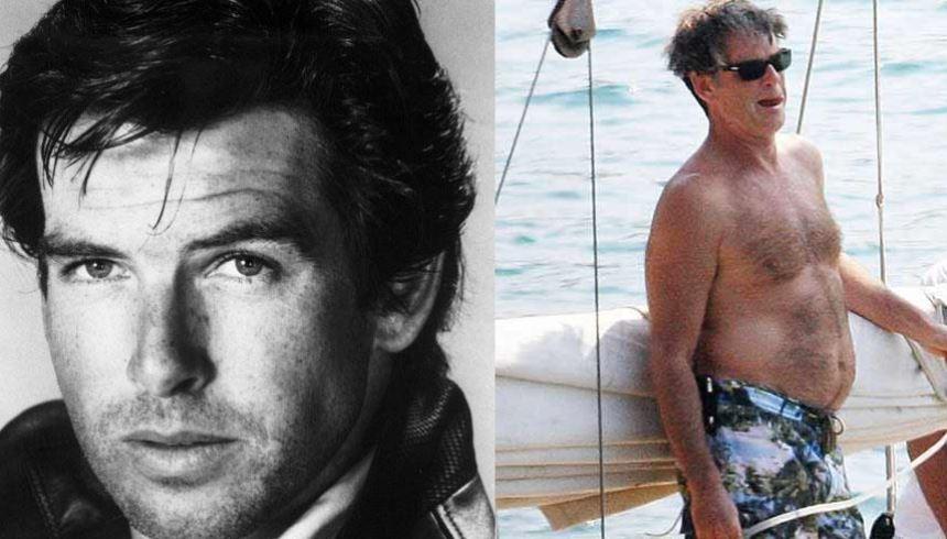 Pierce Brosnan: um dos 007 mais conhecidos e cobiçados também perdeu o charme com a idade FOTO: Reprodução