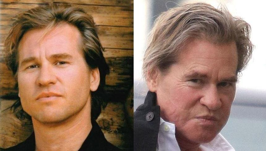 Val Kilmer: conhecido por interpretar até mesmo o Batman nos anos 90, o ator não teve a sorte de envelhecer muito bem FOTO: Reprodução
