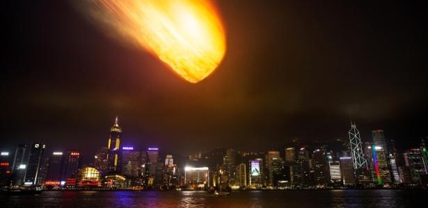 asteroide choque colisao cidade astronomia