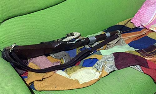arma utilizada no crime