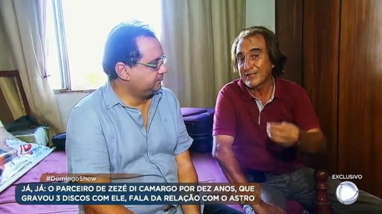 zaza ex parceiro musical de zeze di camargo concede entrevista a geraldo luis do domingo show