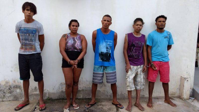 5 presos drogas