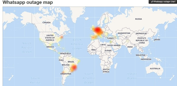 usuarios apontam falha no whatsapp
