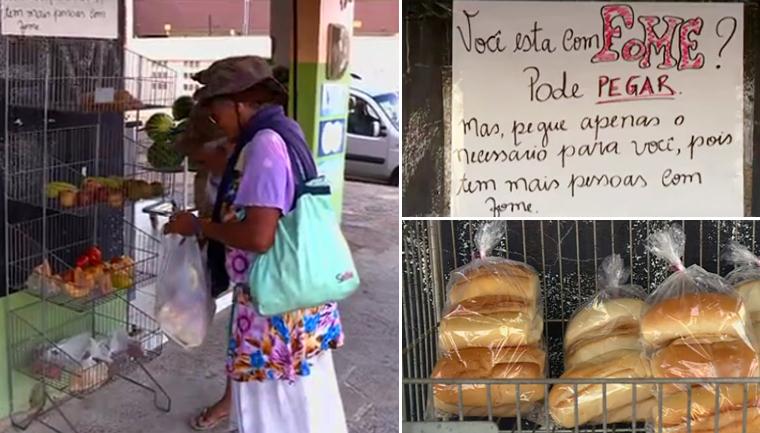 mercado alimentos para quem tem fome