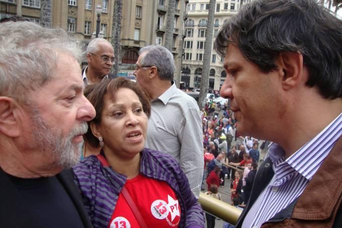com fernando haddad e lula em julho de 2014