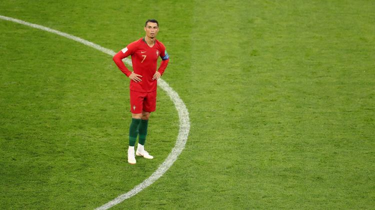 cristiano ronaldo durante partida entre portugal e ira na copa do mundo