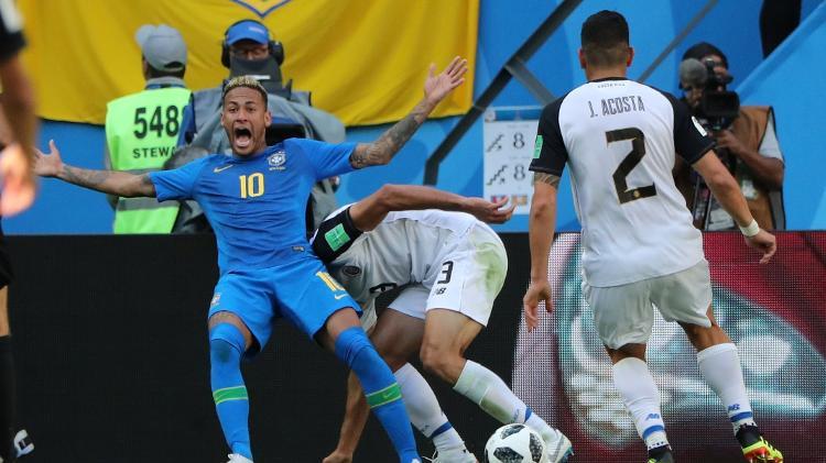neymar simula falta em lance decisivo do jogo contra a costa rica