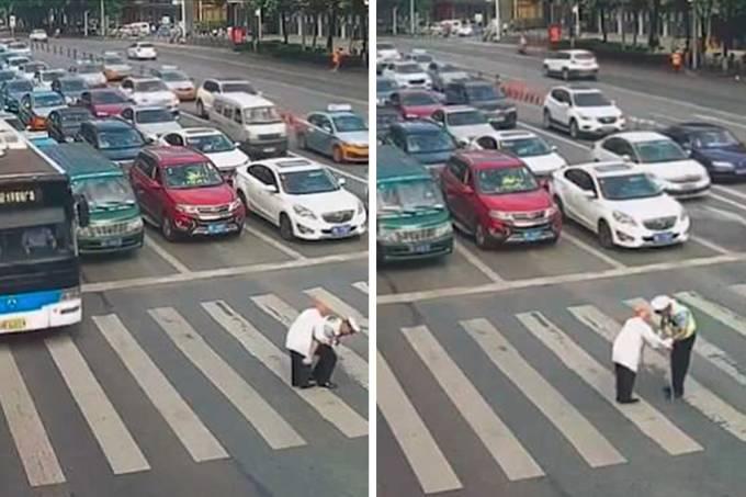policial ajuda homem idoso 01