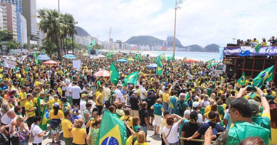 21out2018 ato em apoio ao candidato a presidencia da republica jair bolsonaro psl em copacabana zona sul do rio de janeiro