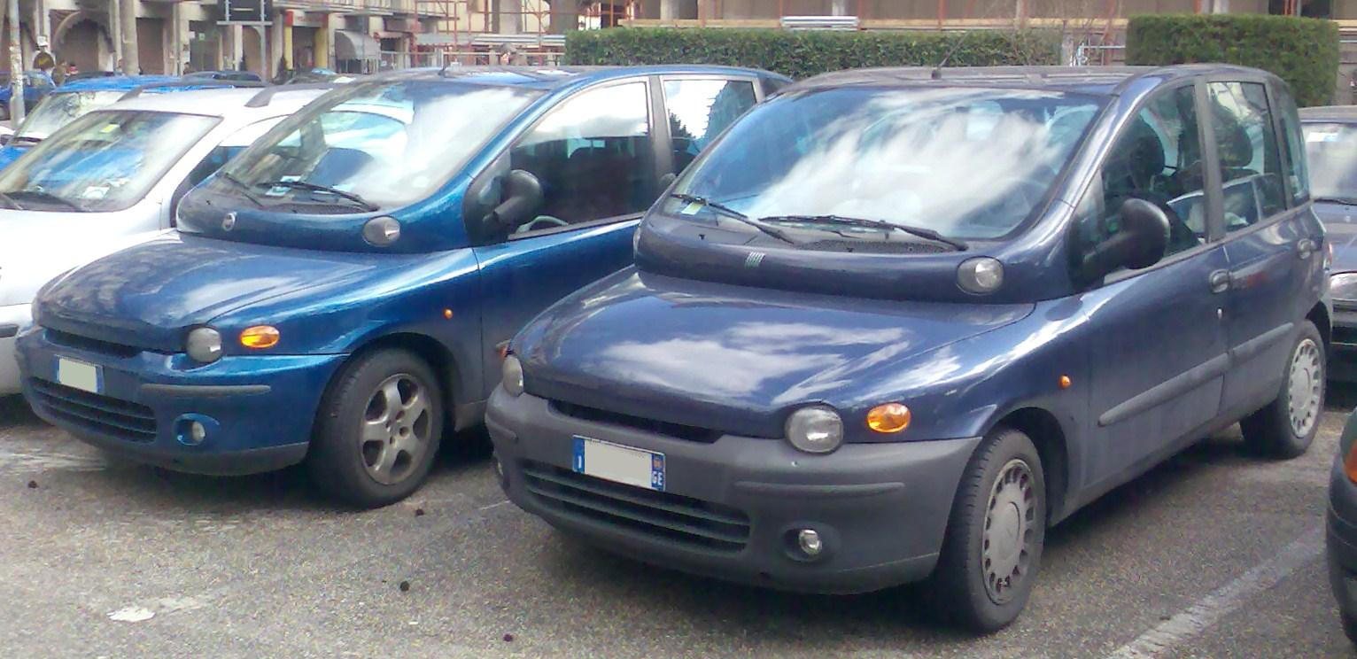 Fiat Multipla and Multipla facelelift 2001