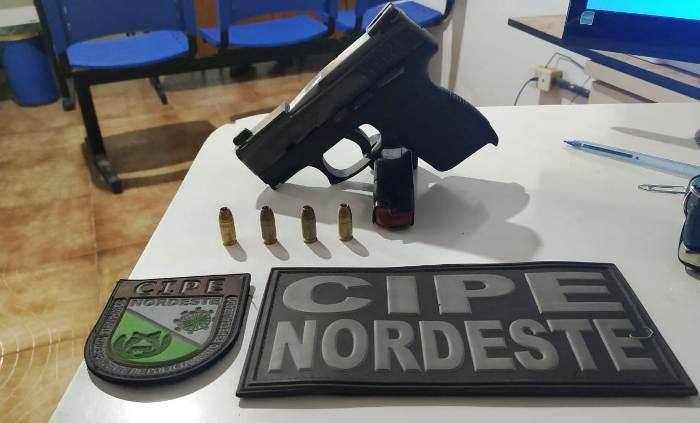 arma encontrada com felipe