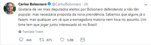 twitter Carlos Bolsonaro