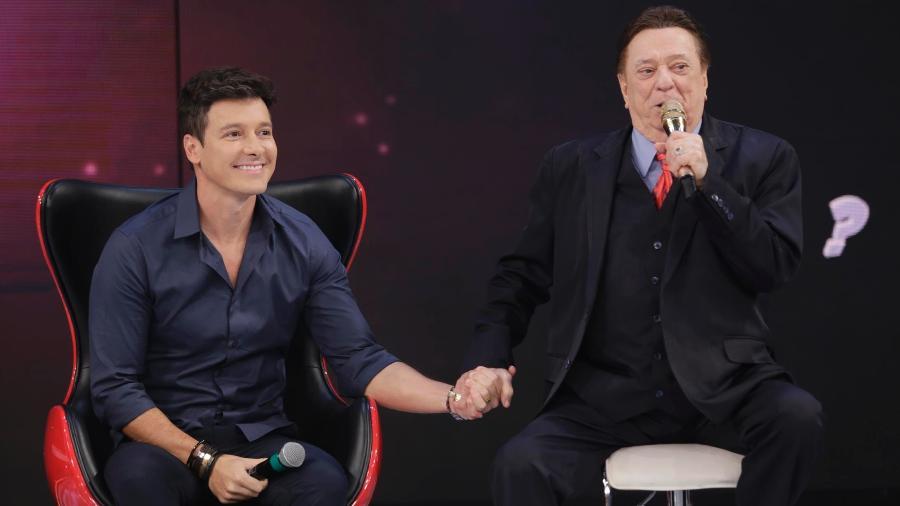 Rodrigo Faro e Raul Gil no SBT