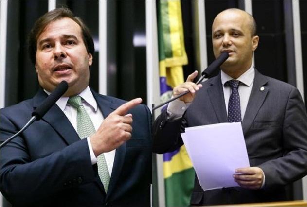 Deputados Rodrigo Maia e Major Vitor Hugo Fotos Marcelo Camargo ABr e Michel Jesus Ag Câmara