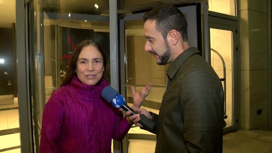 regina duarte em entrevista ao tv fama