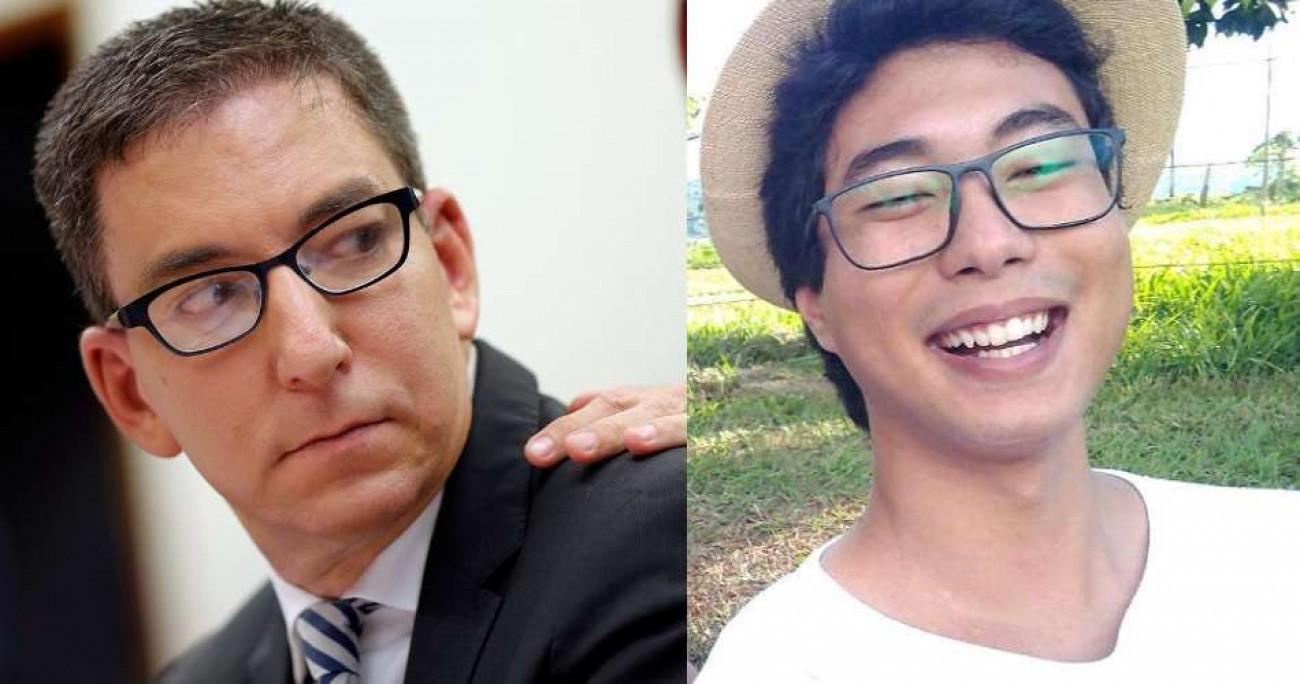 Luiz Henrique Molição e Glenn Greenwald