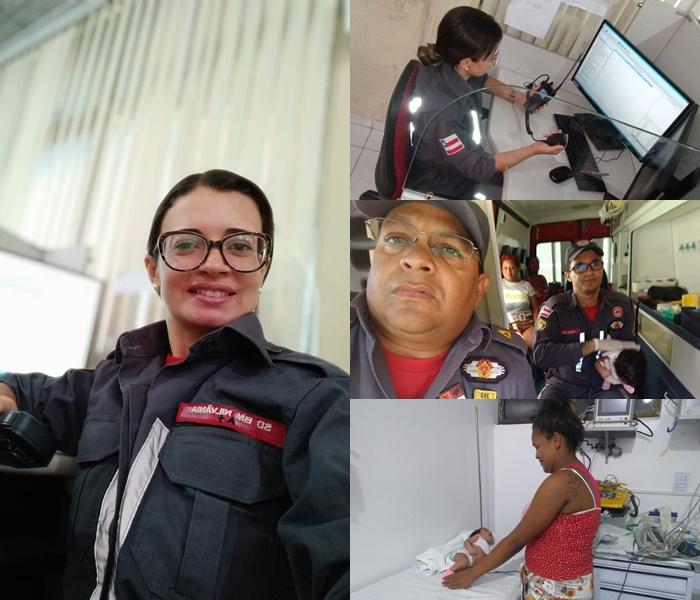 Uma militar do Corpo de Bombeiros de Juazeiro (BA), SD BM Nilvania Santos, conseguiu salvar um bebê