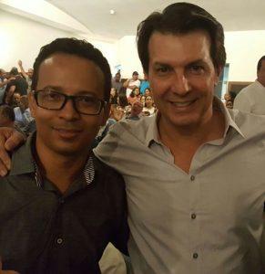 Renilson Ramos ao lado do deputado Arthur Maia