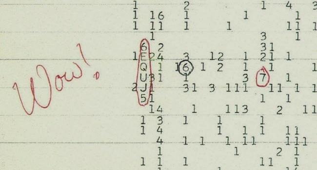 O computador do telescópio usava os números de 0 a 9 para representar as ondas de frequência baixas