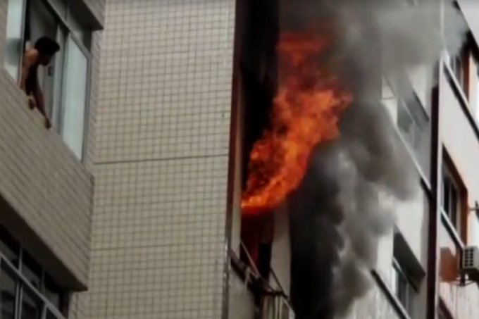 Celular provoca incêndio