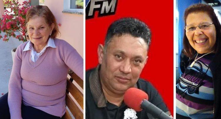 As vítimas Maria Aparecida Farias, o pastor José Roberto Carvalho e Luíza Barbosa de Lima (Reprodução / São Roque Notícias)