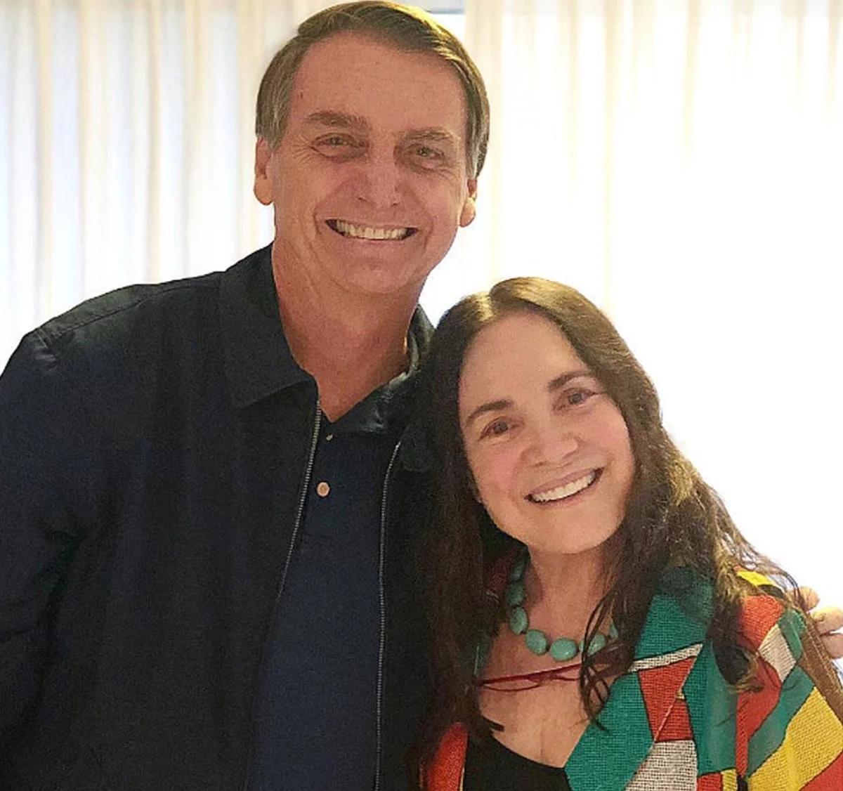 O presidente Jair Bolsonaro convidou a atriz Regina Duarte na tarde desta sexta-feira para assumir a Secretaria da Cultura do governo federal