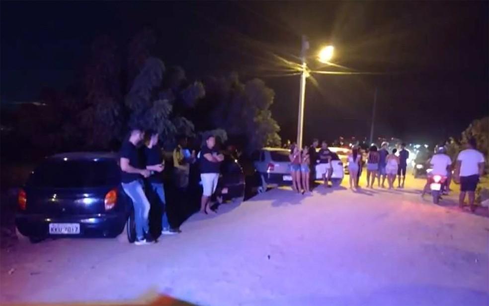 Em Juazeiro, polícia interrompeu festa em casa de eventos — Foto: Reprodução/TV Bahia