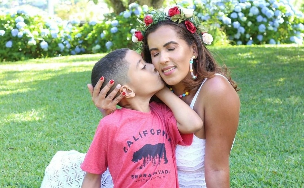 Mãe de Davi fala sobre desparecimento do filho — Foto: Arquivo Pessoal