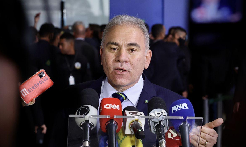 marcelo queiroga coletiva de imprensa no palacio do planalto ms